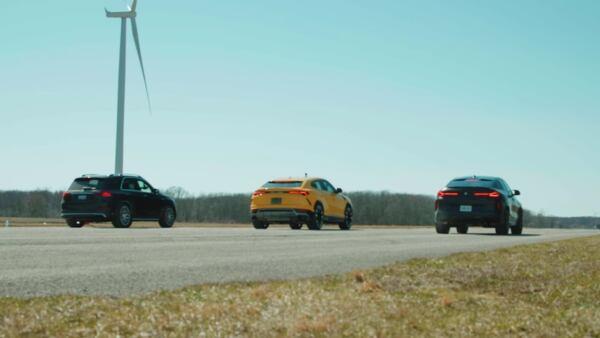 Mercedes-AMG GLE 63 S vs BMW X6 M vs Lamborghini Urus drag race