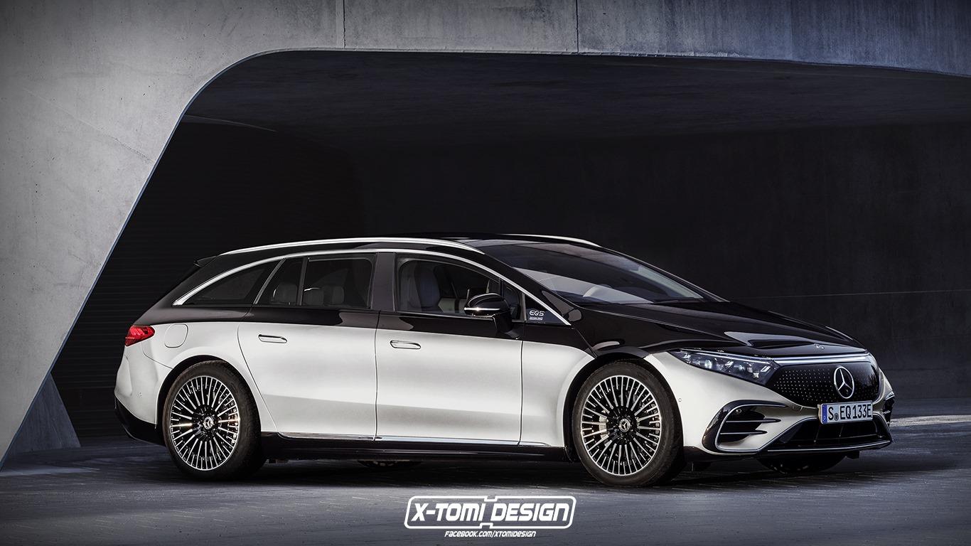 Mercedes EQS Wagon render