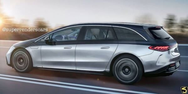 Mercedes EQS shooting brake render