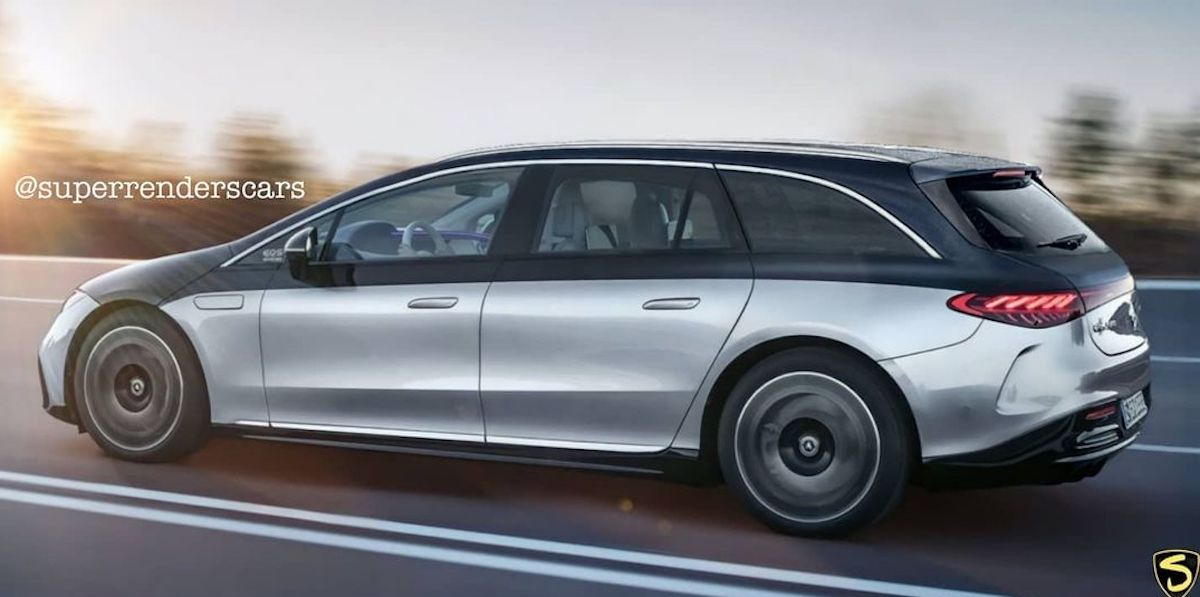 Mercedes EQS shooting brake render