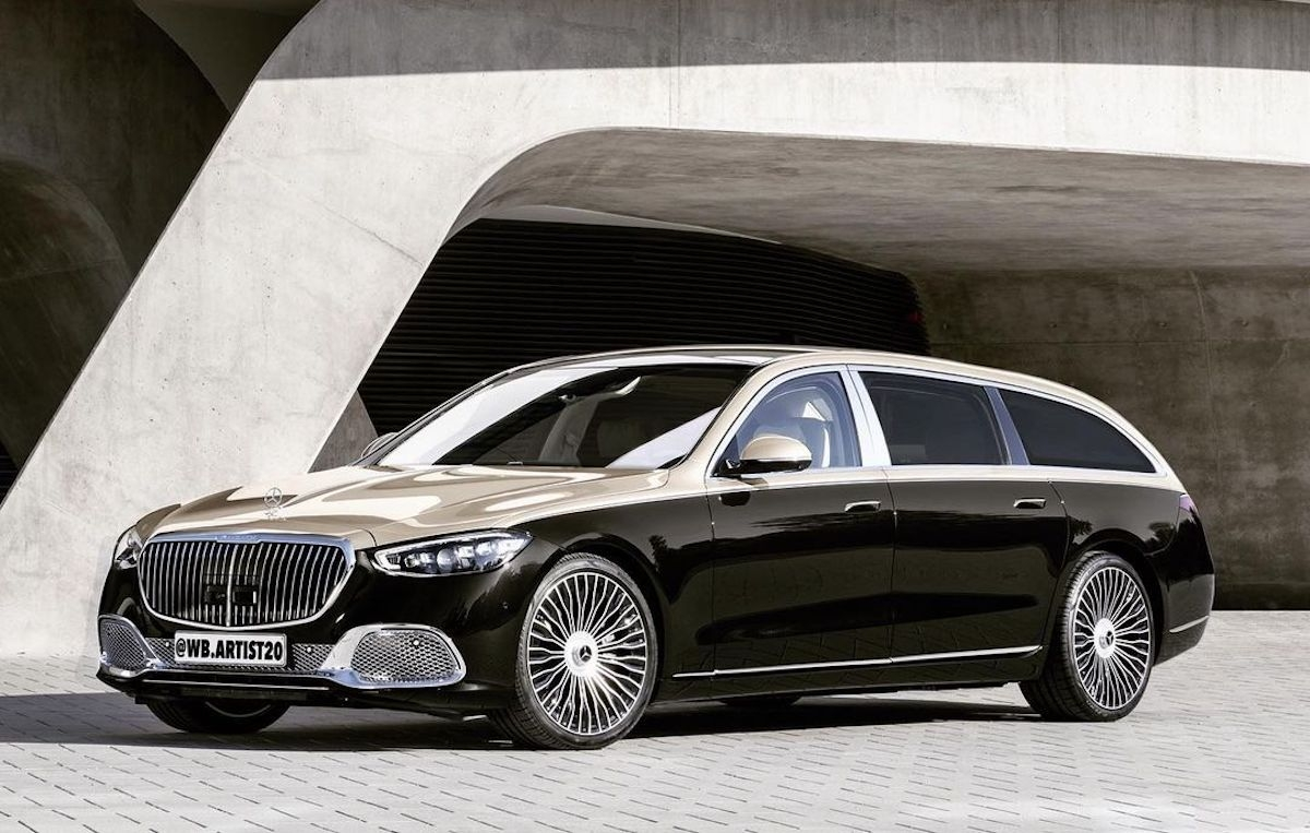 Nuova Mercedes-Maybach Classe S Wagon render