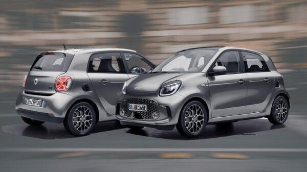 Smart EQ ForFour Racingrey