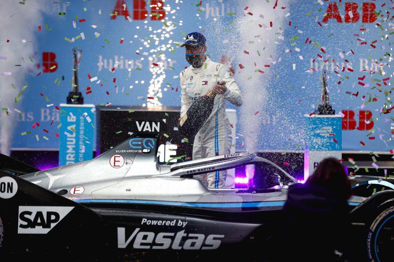 Stoffel Vandoorne Mercedes-EQ Formula E vittoria E-Prix Roma