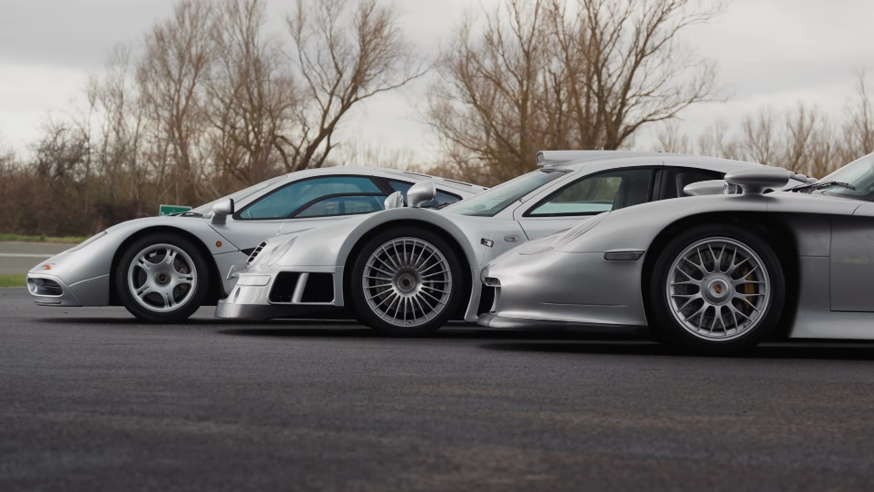 McLaren F1, Porsche 911 GT1 e Mercedes-Benz CLK GTR