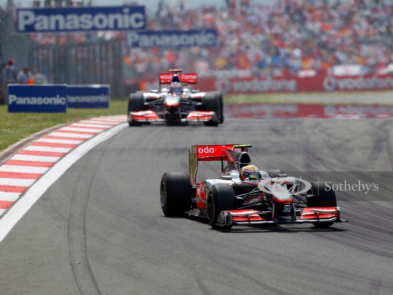 McLaren-Mercedes MP4 25A Lewis Hamilton asta