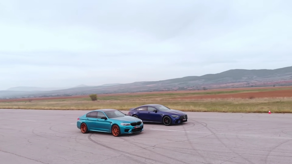 Mercedes-AMG GT 63 S vs BMW M5 Competition drag race