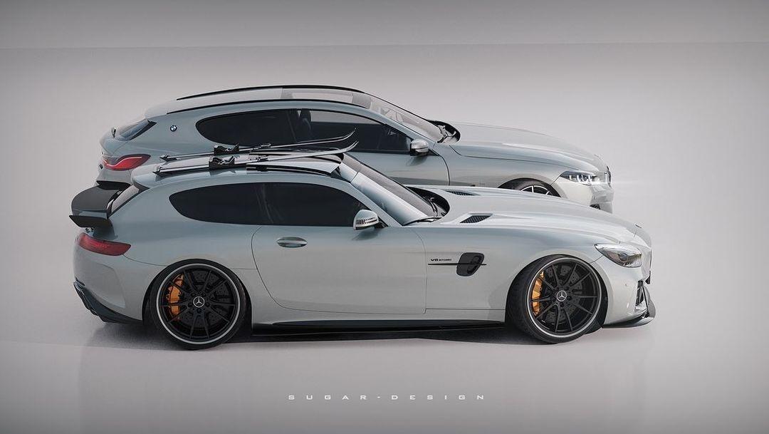 Mercedes-AMG GT BMW Serie 8 shooting brake render
