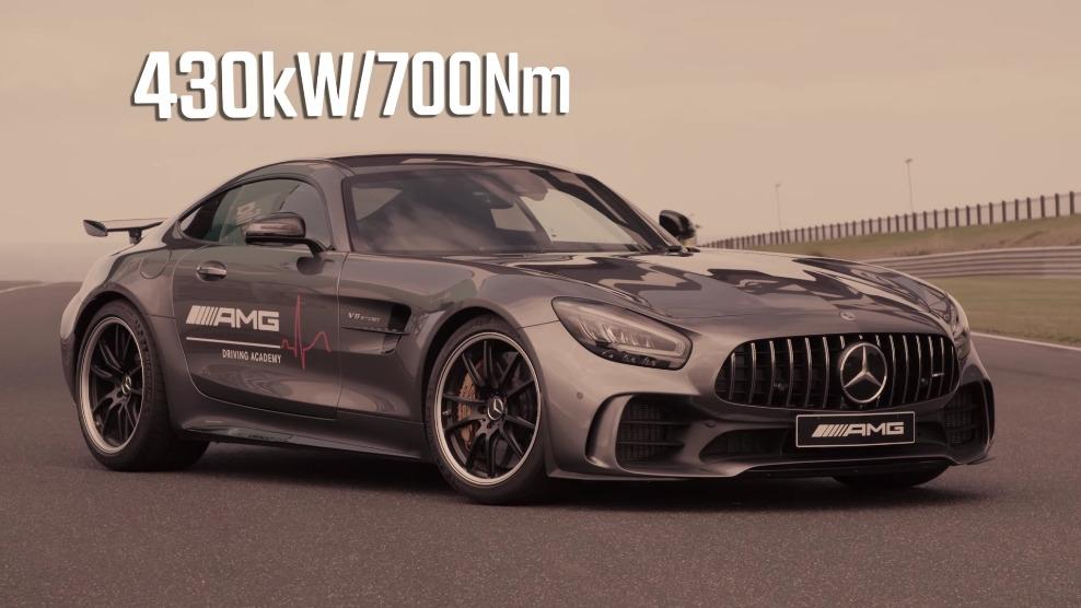 Mercedes-AMG GT R vs A 45 S vs C 63 S gara