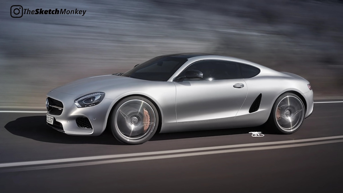 Mercedes-AMG GT a motore centrale render
