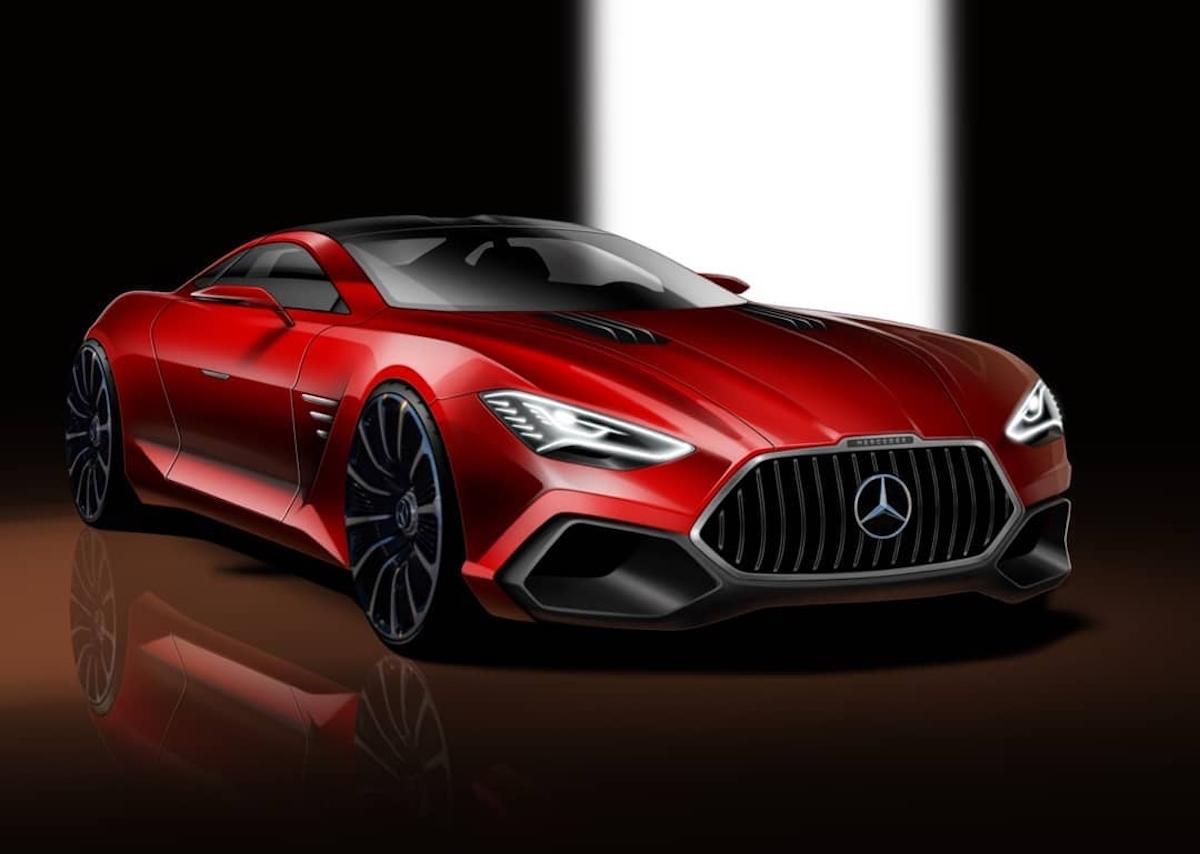 Mercedes-Benz SLS AMG chiave moderna render