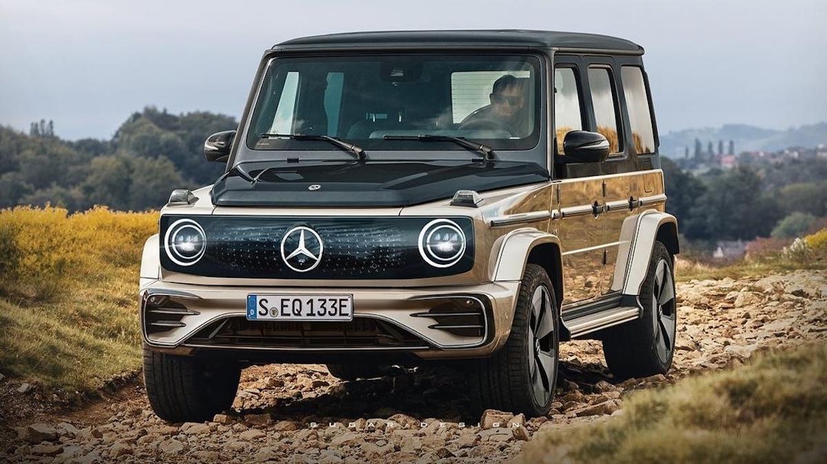Mercedes EQG render