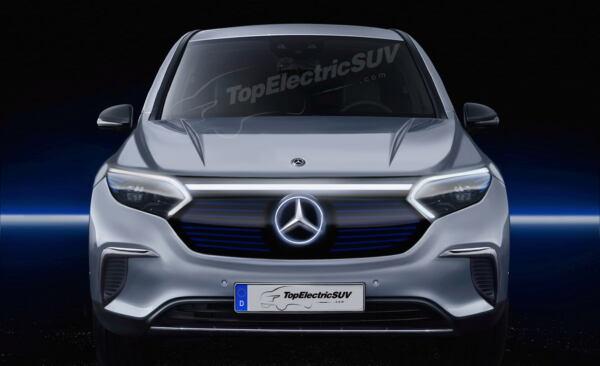 Mercedes EQS SUV render