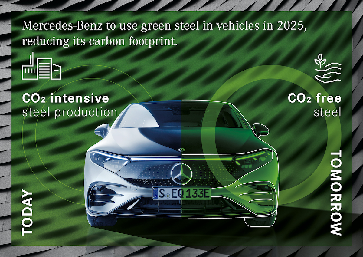 Mercedes acciaio green