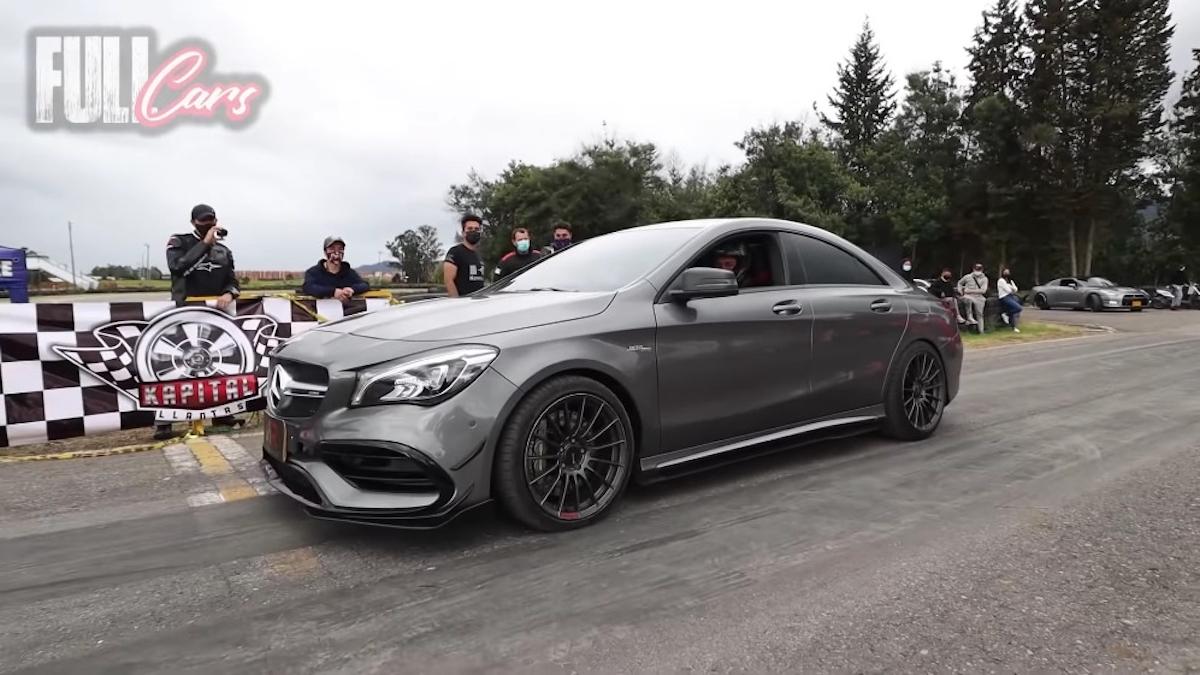 Mercedes-AMG CLA 45 vs Camaro ZL1 drag race