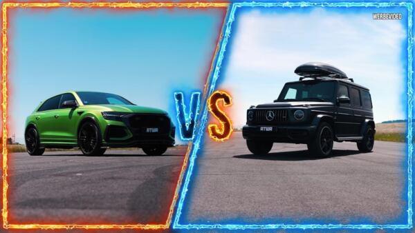 Mercedes-AMG G 63 modificato vs ABT RSQ8-R drag race