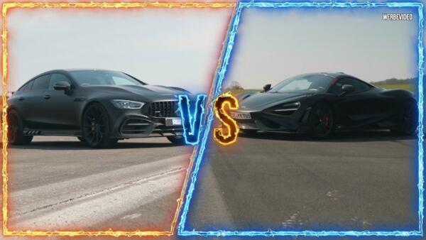 Mercedes-AMG GT 63 S vs McLaren 765LT drag race