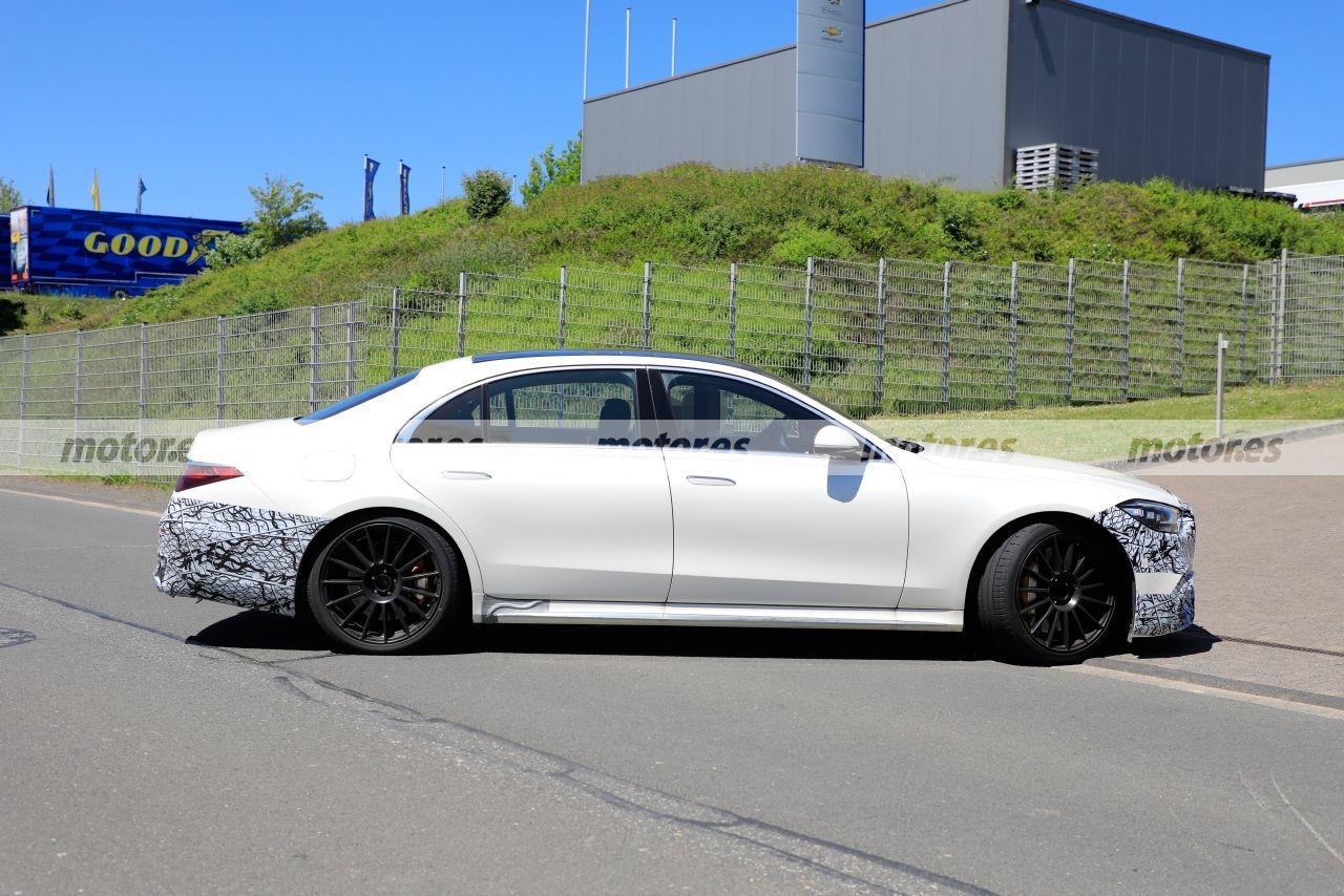Mercedes-AMG S 63 e 2022 foto spia ultimo avvistamento