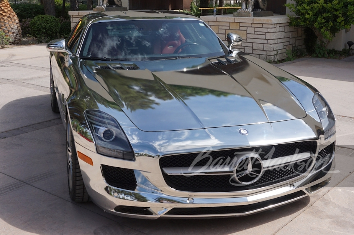 Mercedes-Benz SLS AMG cromata asta