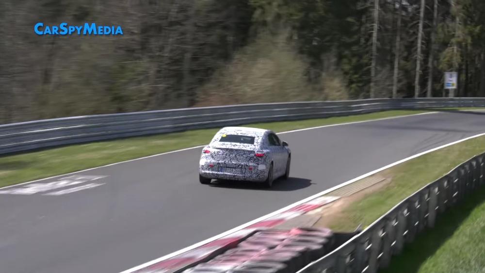 Mercedes EQE nuovo prototipo Nurburgring