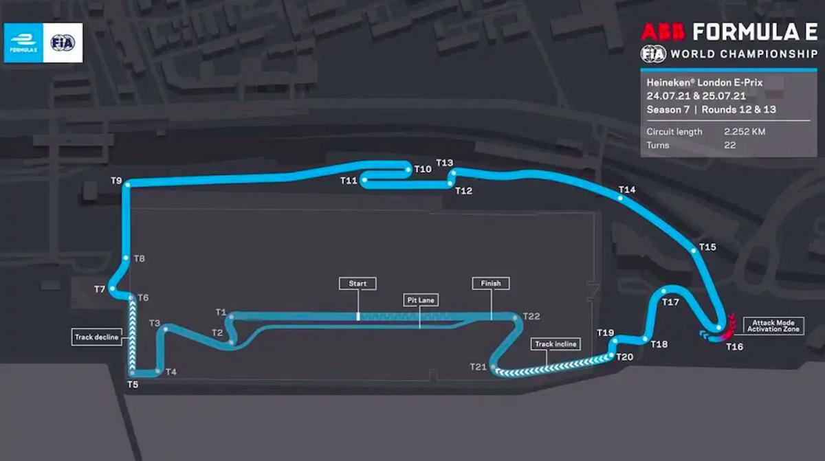 Formula E E-Prix Londra circuito