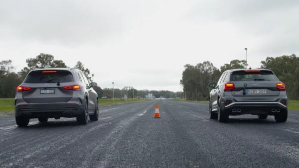 Mercedes-AMG GLA 35 vs Audi SQ2 drag race