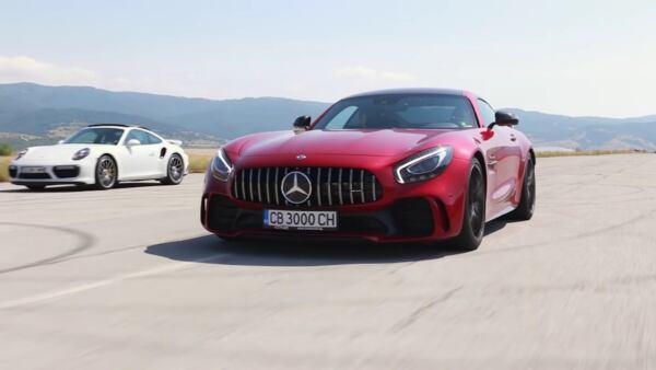 Mercedes-AMG GT R vs Porsche 911 GT3 RS vs 911 Turbo S drag race