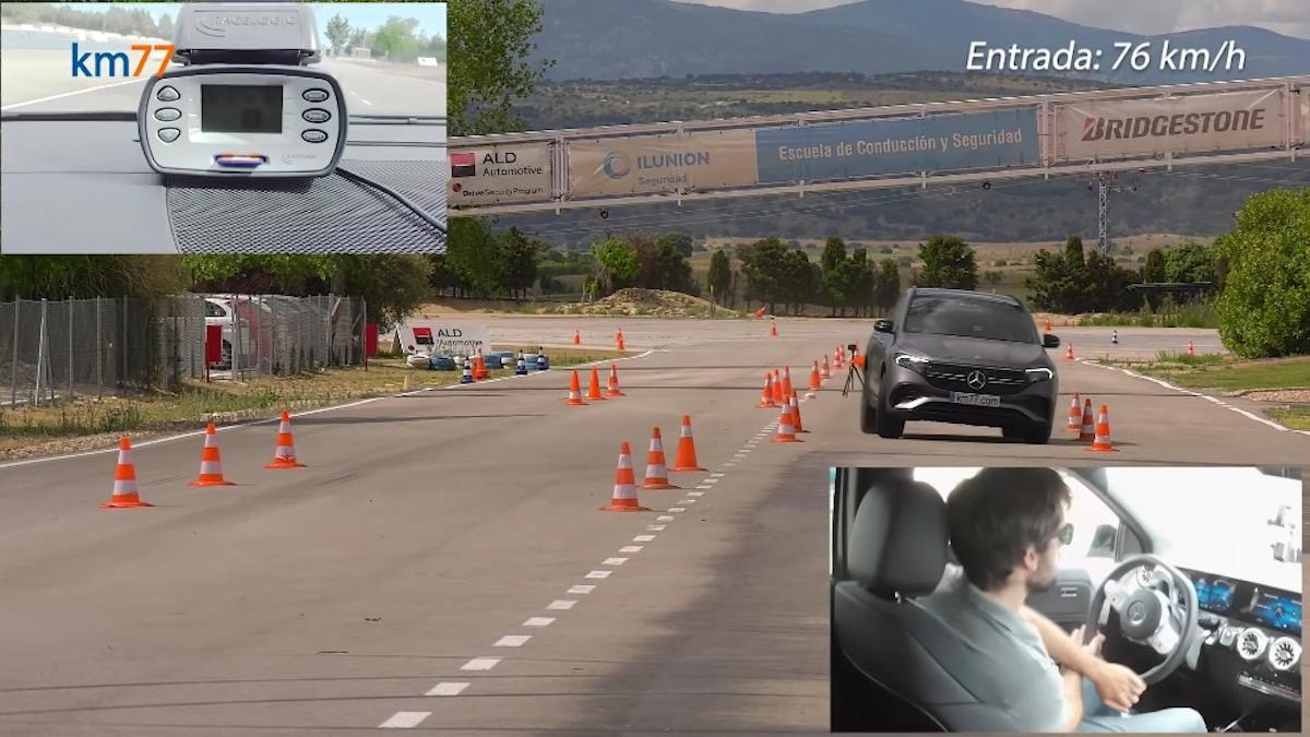 Mercedes EQA test alce