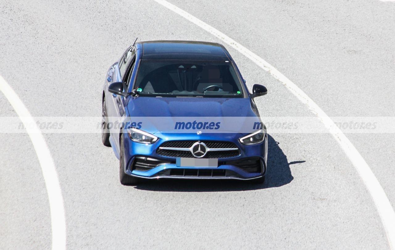 Nuova Mercedes Classe C PHEV foto spia