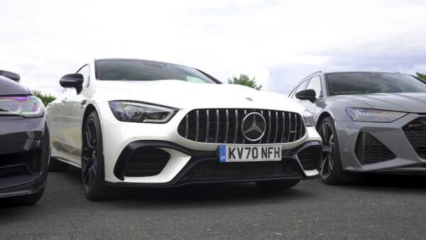 Mercedes-AMG GT 63 S vs BMW M5 CS vs Audi RS 6 vs Porsche Panamera Hybrid