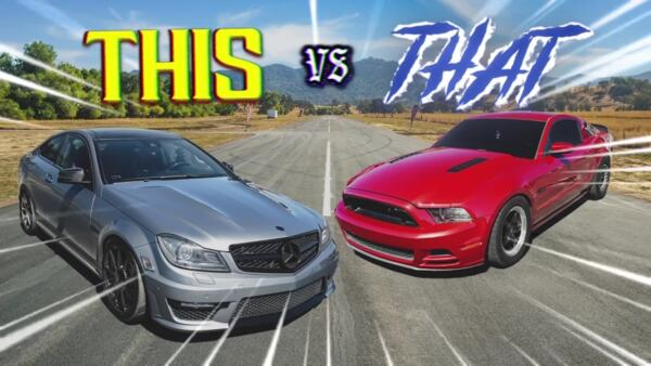 Mercedes-Benz C 63 AMG vs Ford Mustang GT
